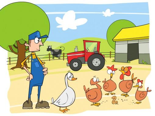 ilustracja farmy