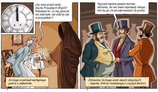 scena z komiksu