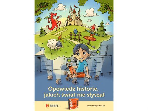 ilustracja i projekt plakatu Story Cubes